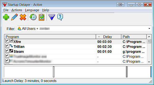 Delay Start Up of Windows Applications