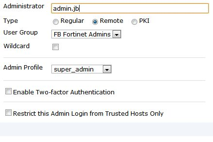 Fortinet Fortigate 300D Active Directory Integration