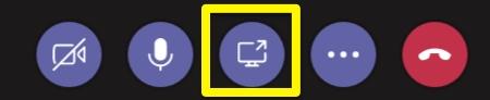 Screenshot: share desktop button