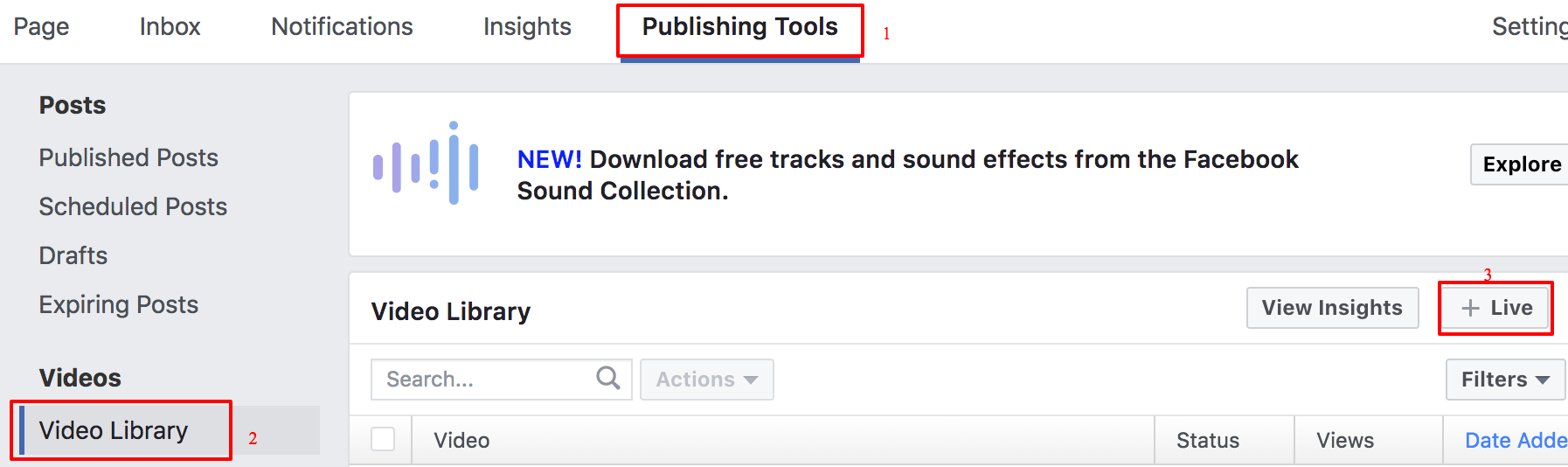 Facebook Live using stream distribution system : Sunday