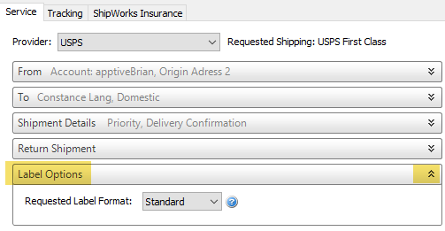 Using Label Options for a Single Shipment : ShipWorks Support