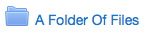 An example of a collapsed folder.