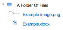 An example of an expanded folder.