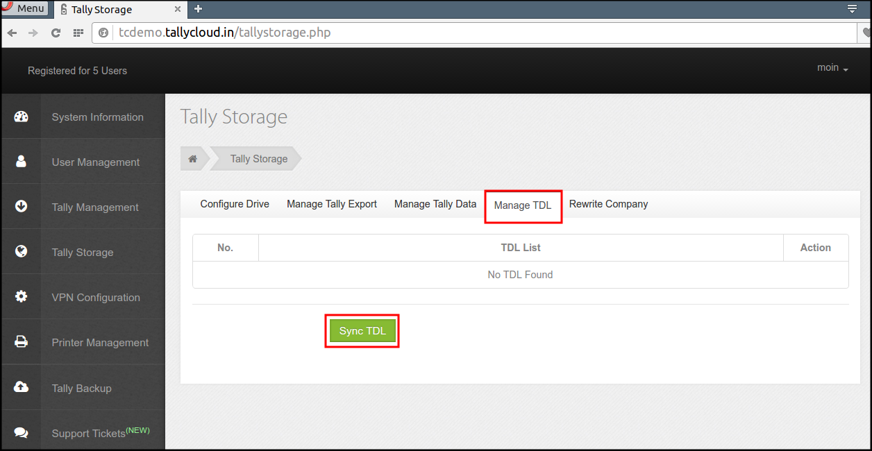 TDL(TCP), Tally Customization in Tally on Cloud : HelpDesk