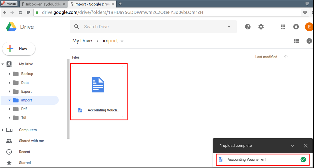 How to Import Files in Tally on Cloud : HelpDesk @ Enjay IT