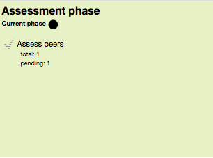 Screen shot of the Assessment phase screen in the Workshop Activity