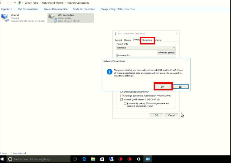 VPN Client Configuration in Windows : HelpDesk @ Enjay IT