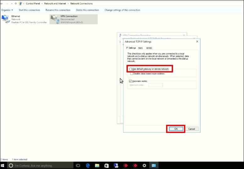 VPN Client Configuration in Windows : HelpDesk @ Enjay IT Solutions Ltd