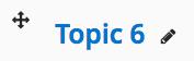 Screenshot shows Topic 6 icon
