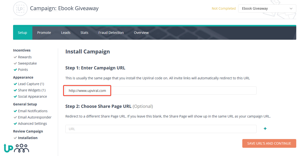 How to create a campaign that can be embedded as a widget in