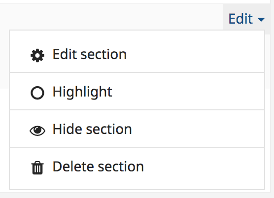 Screenshot shows Edit dropdown menu