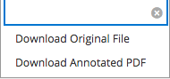 screenshot of download options