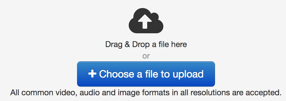 screenshot of file upload