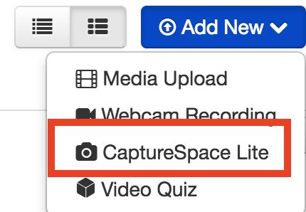 screenshot of launching CaptureSpace Lite