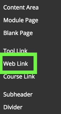 screenshot of Web Link link