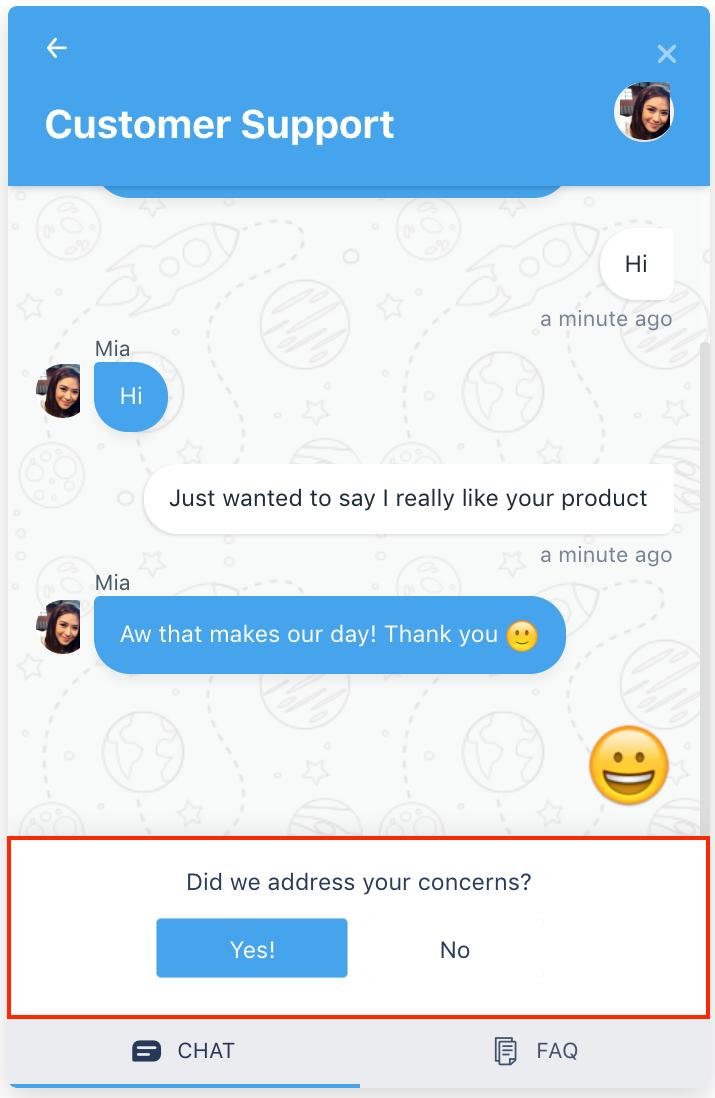 customer satisfaction survey freshchat