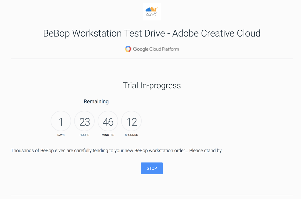 Getting Started With The Bebopadobe Test Drive On The Google