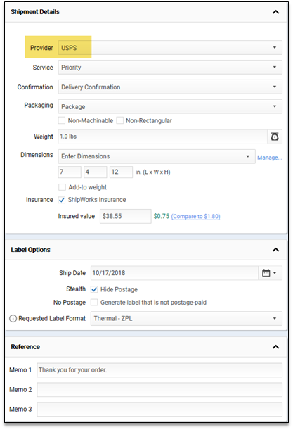 Shipping an Order in Order Lookup Mode : ShipWorks Support