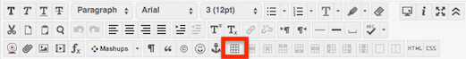 screenshot of text/content editor insert/edit table button