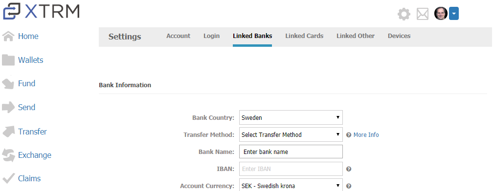 How do I transfer my funds to my bank account : XTRM Help Center