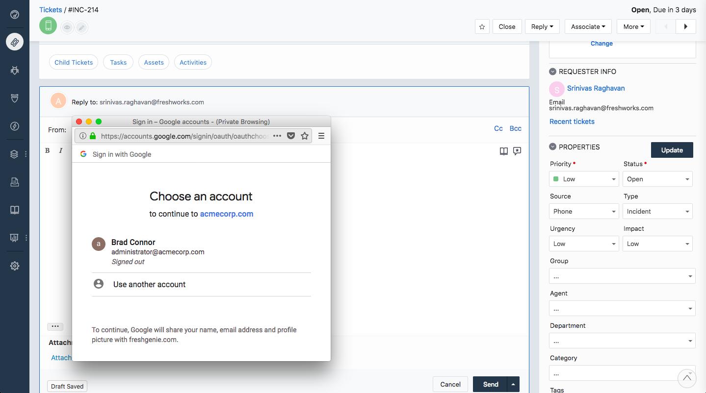 Google Drive App for Freshservice : freshservice
