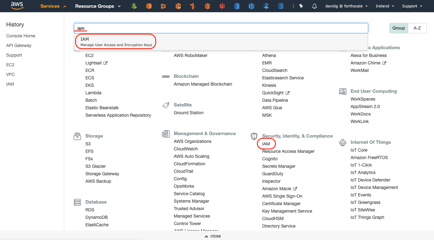 Creating CrossAccount permission for Forthscale in AWS :