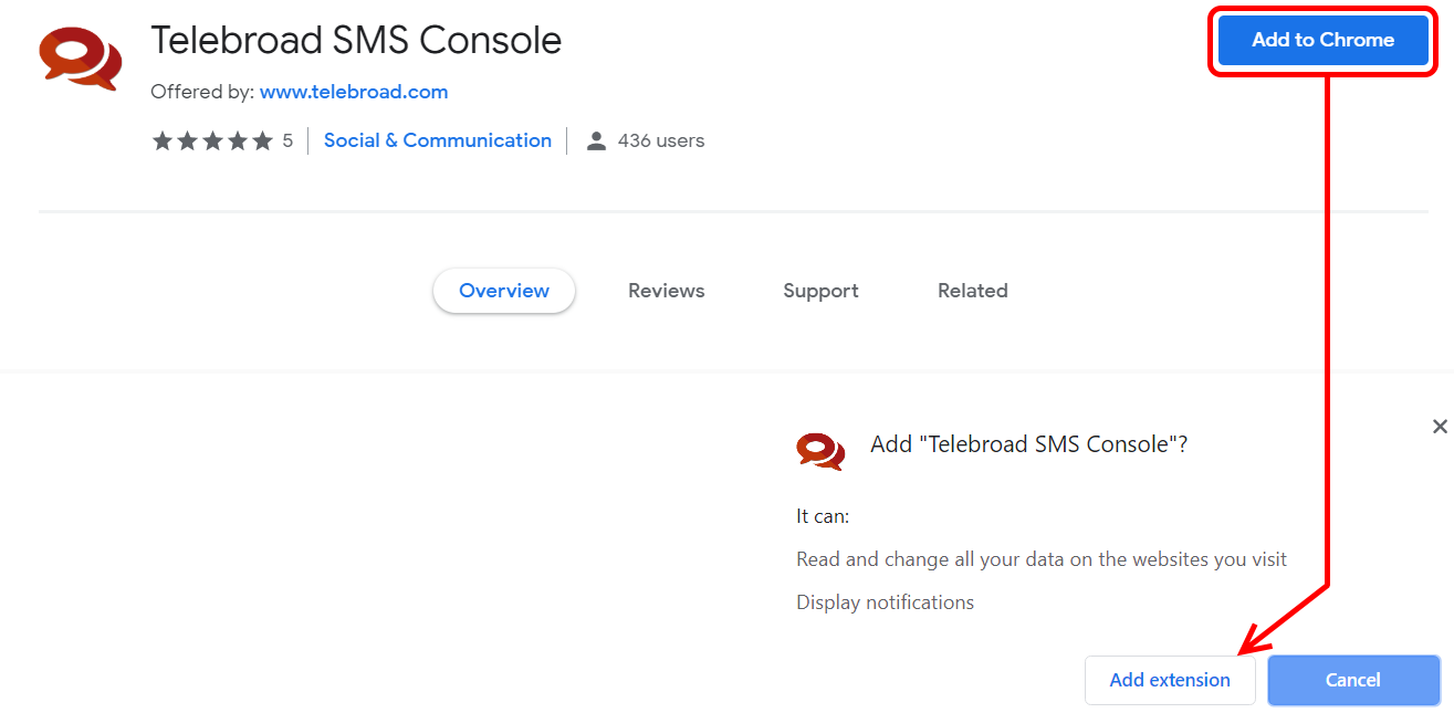 Chrome SMS Extension (SMS Console): Teleboard | Support Center