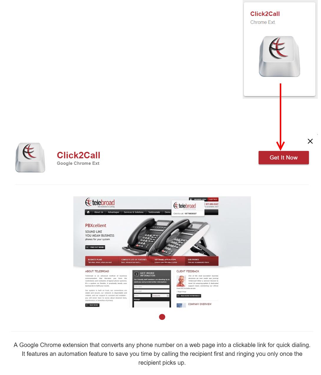 Click to Call (click2call): Teleboard   Support Center