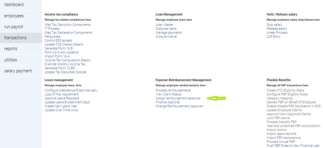 How to configure Finance Manager for Reimbursement workflow