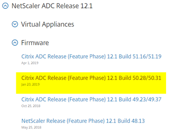 Upgrade NetScaler SDX Appliance from 11 x to 12 1 Version