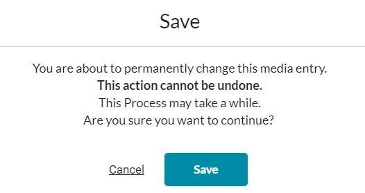 screenshot of save warning
