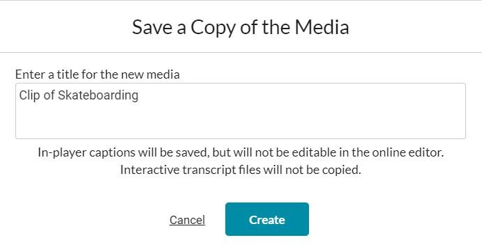 screenshot of saving options
