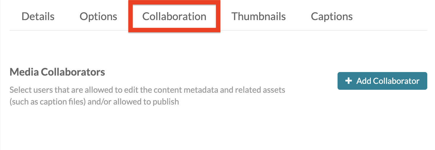 screenshot of collaboration tab