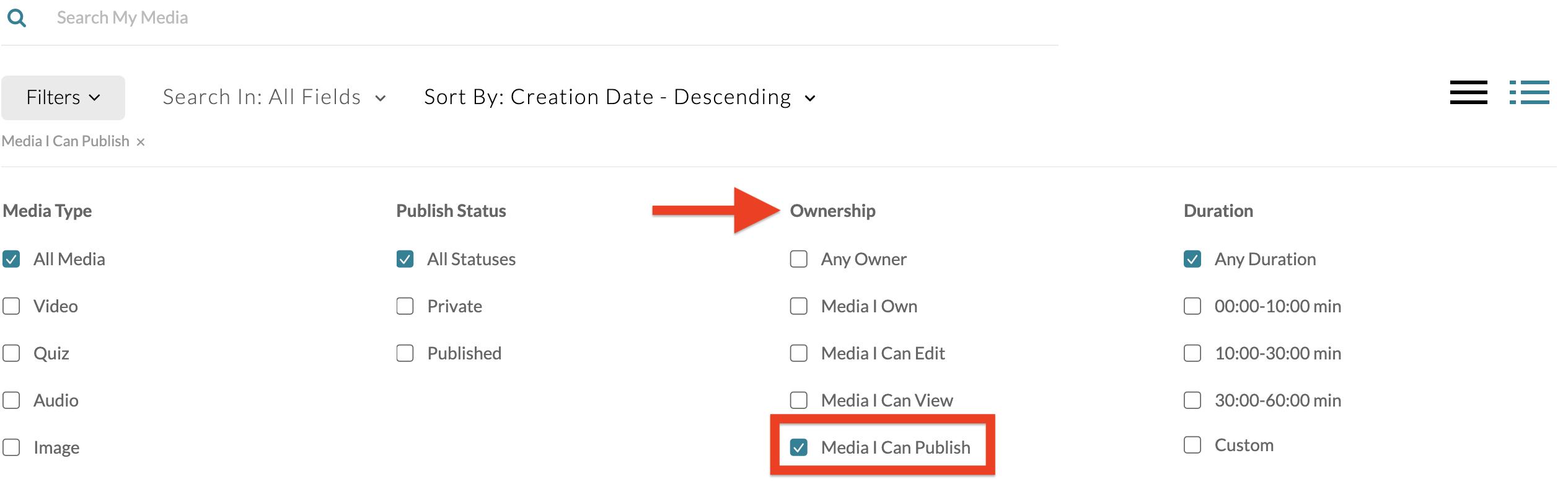 screenshot of media i can publish checkbox