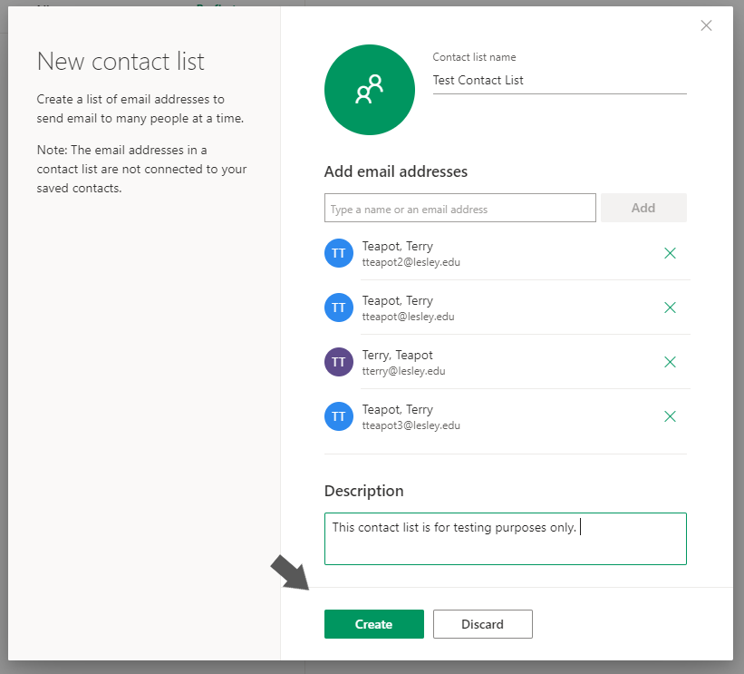 How to create or edit a Group (Contact List) in Office 365