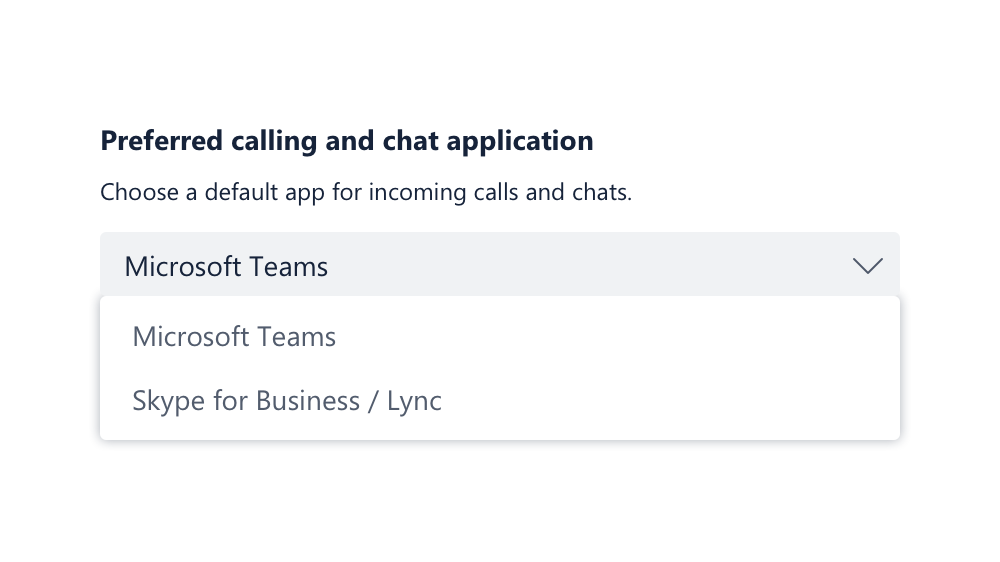 Preferred calling app - Teams or Skype