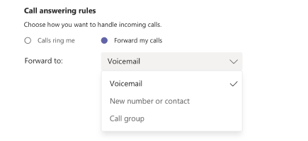 Call answering and forwarding rules