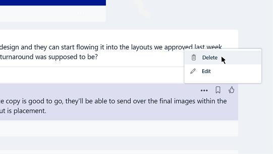 Edit or delete a message in Teams