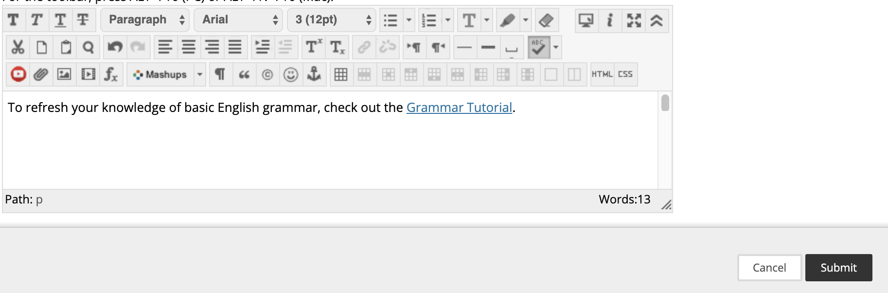screenshot of link added in item