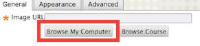 screenshot of image upload options