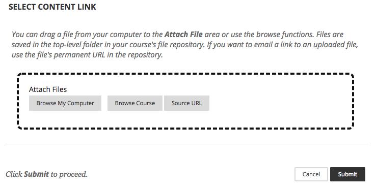 screenshot of attach files area