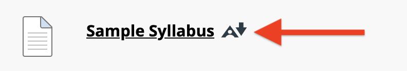 screenshot of Alternative Format icon
