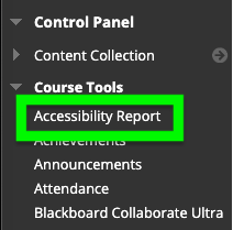 access accessibility report