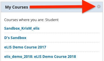 my courses module in myLelsey