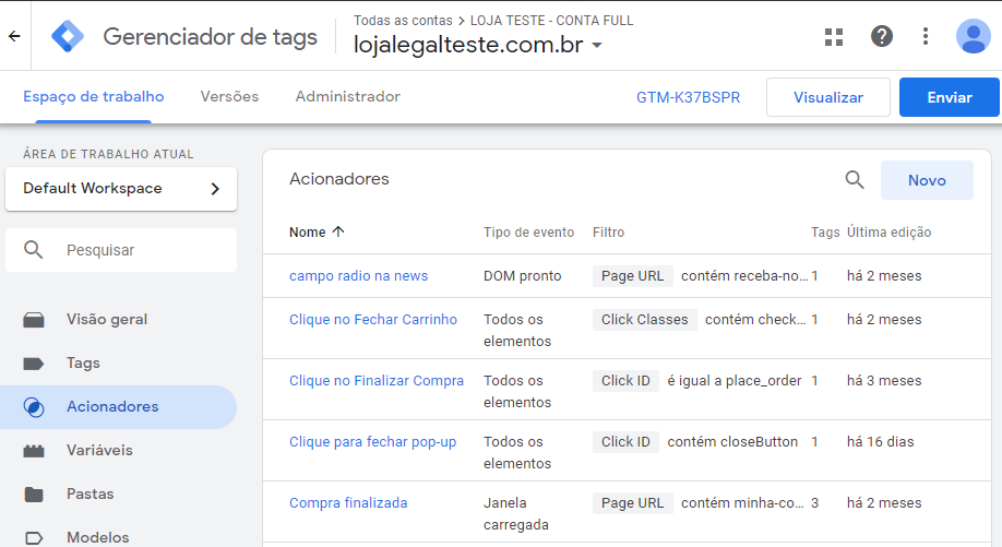 Como integrar seu site à ferramenta com o Google Tag Manager?