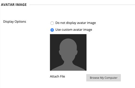 image of avatar image area