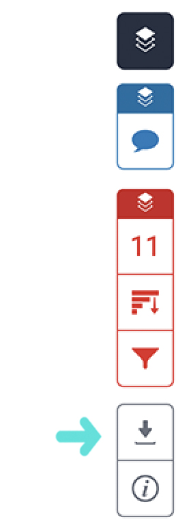 Turnitin toolbar showing download icon