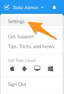 Todo-Cloud-Settings-dropdown