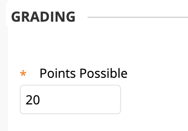 enter the points possible for the assignment
