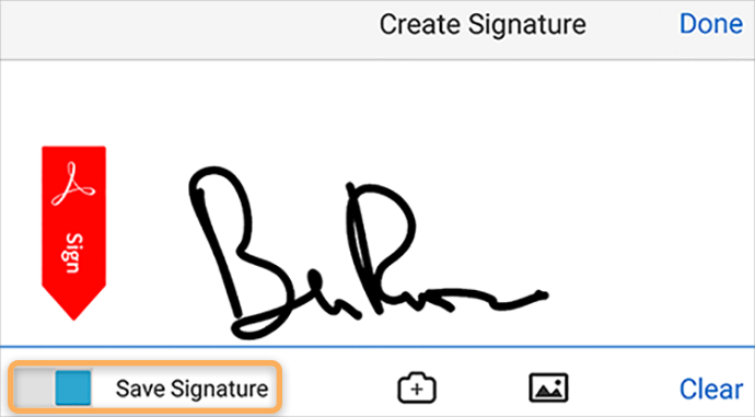 Capture and Save Signature